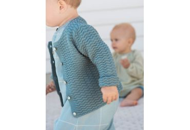 SERENDIPITY E19 cardigan trooper bleu