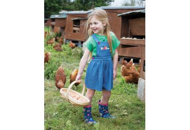 FRUGI E19 salopette robe strawberries