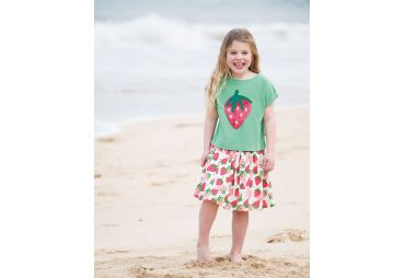 FRUGI E19 t-shirt vert strawberries