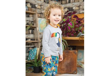FRUGI H19 t-shirt grey marl toucan