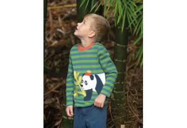 FRUGI H19 t-shirt meadow stripe panda