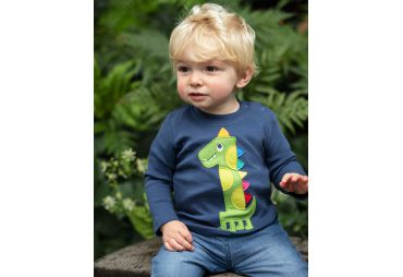 FRUGI H19 t-shirt magic number blue dino